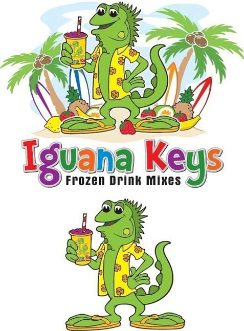 Iguana Cartoon Logo