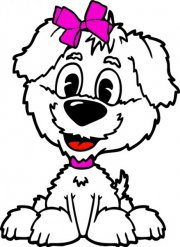 Cute Cartoon Puppy Logo